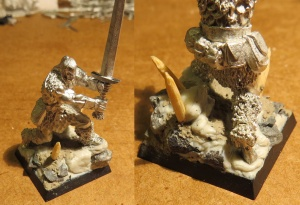 Barbarian Hero, with custom base and sword.