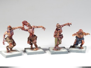 It is hard to vary the poses enough to get very different looking zombies (lots of extended arms). But still, the overall effect of the horde is quite cool.