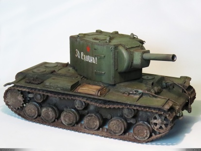 WWII Russian KV-2 tank (1/35 model, Tamiya 1979) restored and completed!
