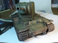 KV-2 on the workbench