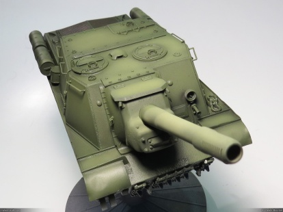 ISU-152, Zvezda, 1/35 base color (with oil paint filter), front view
