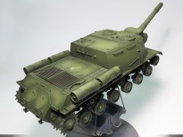 ISU-152, Zvezda, 1/35 base color (with oil paint filter), rear view