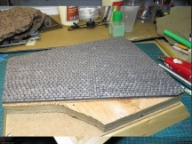 The road is made of foamcore: I used the same technique as for my ISU-152 diorama.