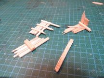 Some simple wood planks assembled together.
