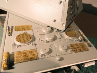A view of the photo-etched grills.
