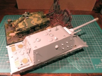 The E-100 is as large... as my entire Hetzer diorama!!!