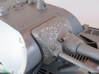 Cast texture added on the gun mantlet.