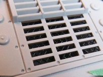 Mosquito mesh was glued under the hull to add detail and realism to the ventilation grates.